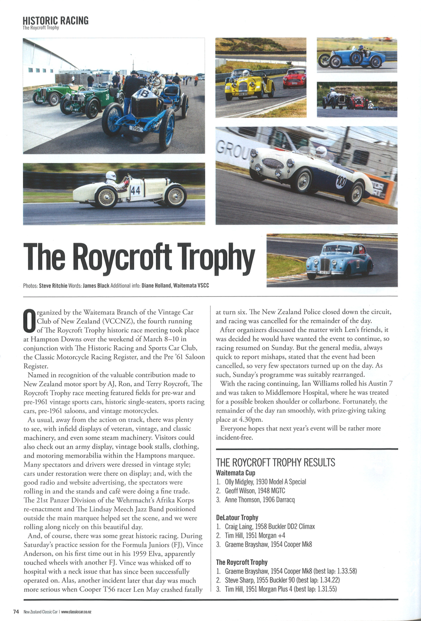 Roycroft Trophy 2014