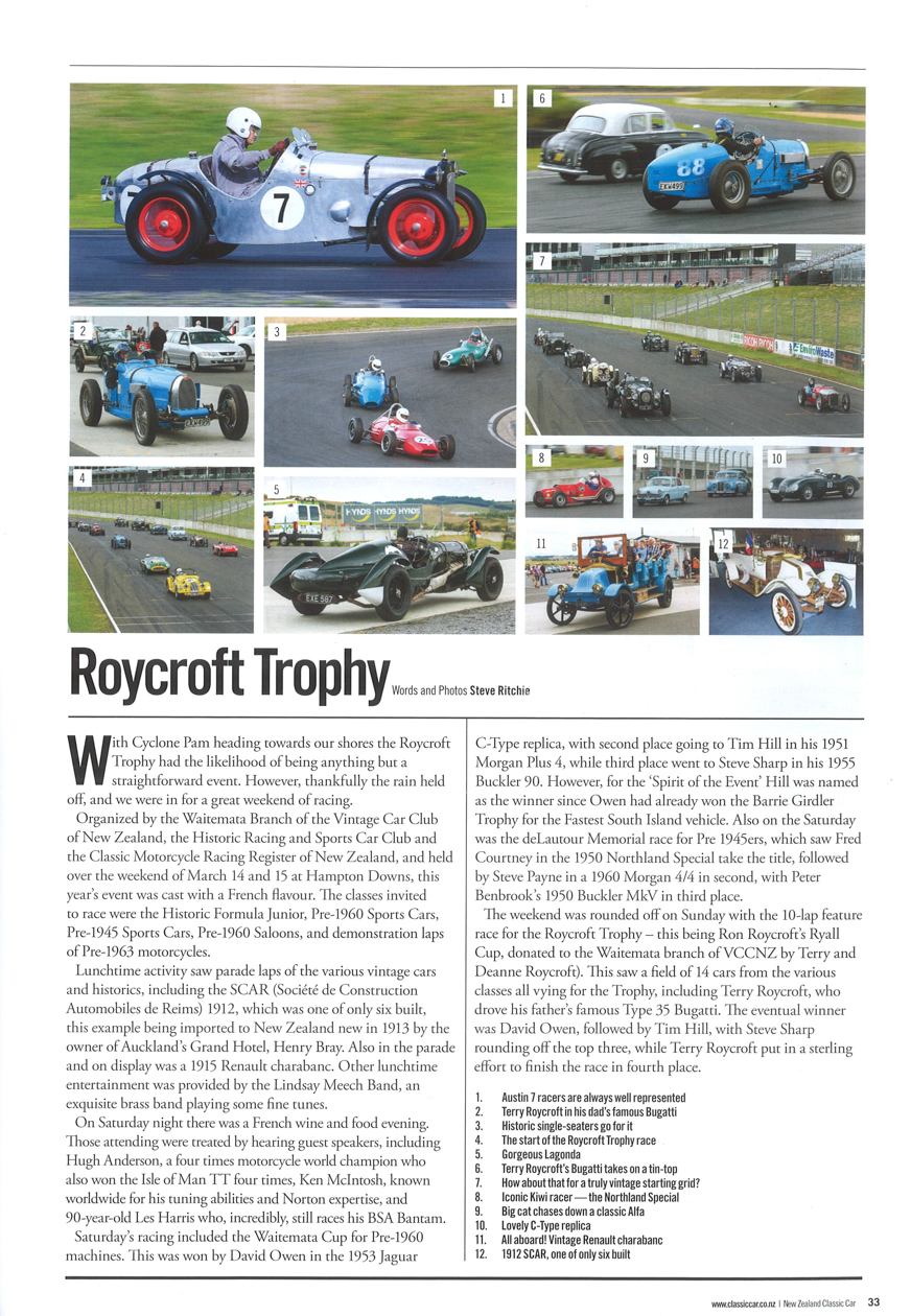 Roycroft Trophy 2015